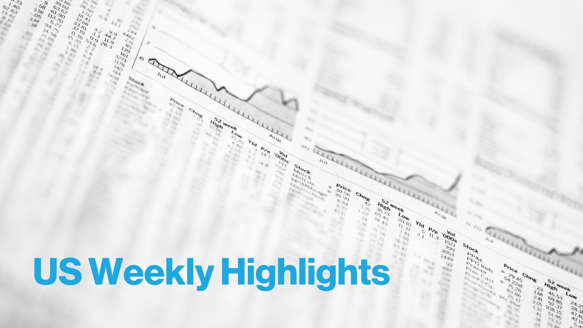 US stock market - weekly highlights by Smart Insider - blue